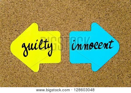 Message Guilty Versus Innocent
