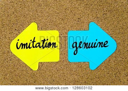 Message Imitation Versus Genuine