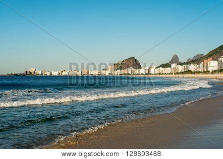 Sunny day in Copacabana beach, Rio de Janeiro