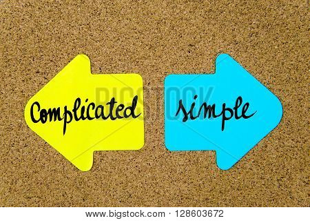 Message Complicated Versus Simple