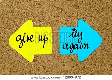Message Give Up Versus Try Again