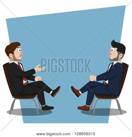 Business man discussion. eps10 editable vecor illustration design