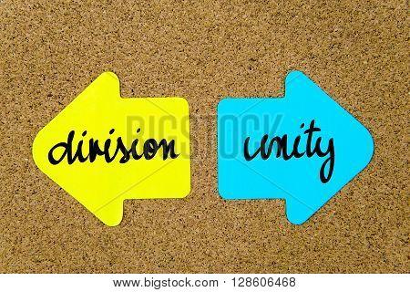 Message Division Versus Unity