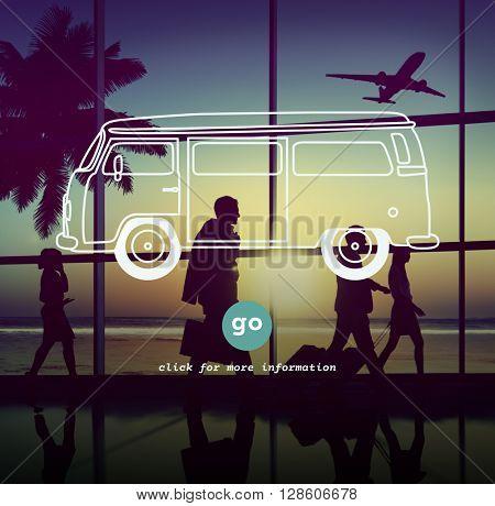 Car Transportation Traveling Vehicle Trip Concept
