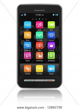 Touchscreen-smartphone