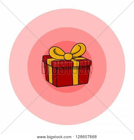 Red gift box .eps10 editable vector illustration design