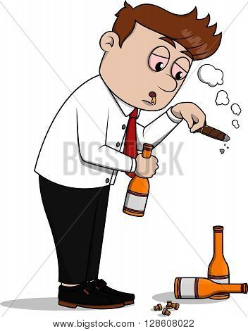 Business man drunk  illustration design .eps10 editable vector illustration design