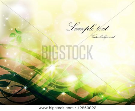 abstract floral background with leafs and flowers for retro and vintage design. eps 10