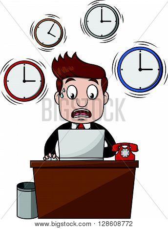 Business man dead line .eps10 editable vector illustration design