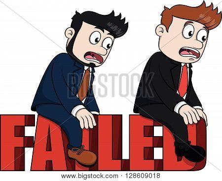 Business man failed .eps10 editable vector illustration design