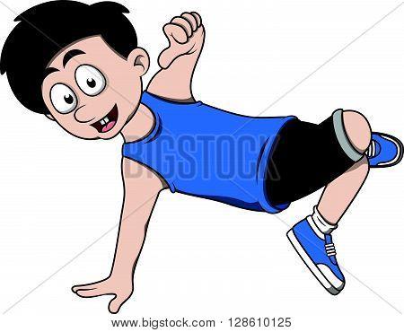 Boy break dance .eps10 editable vector illustration design