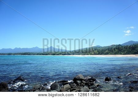 Island Palawan panorama. A landscape. A photo in the nature.
