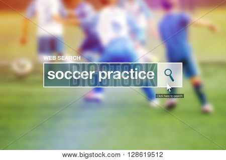 Web search bar glossary term - soccer practice definition in internet glossary.