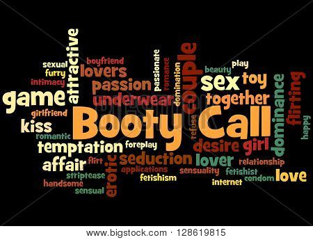 Booty Call, Word Cloud Concept 3
