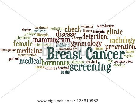 Breast Cancer, Word Cloud Concept 3