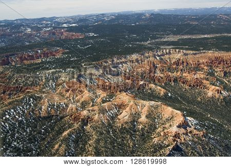 Bryce Canyon National Park - aerial view