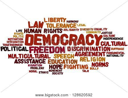 Democracy, Word Cloud Concept 5