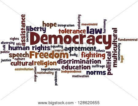 Democracy, Word Cloud Concept 9