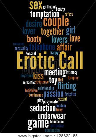 Erotic Call, Word Cloud Concept 5