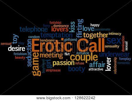 Erotic Call, Word Cloud Concept 8