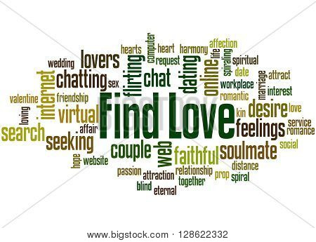 Find Love, Word Cloud Concept 4