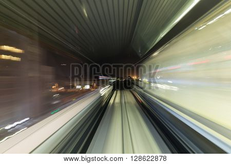 Train motion in tunnel