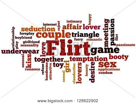 Flirt, Word Cloud Concept 9
