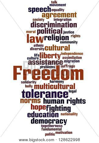 Freedom, Word Cloud Concept 5