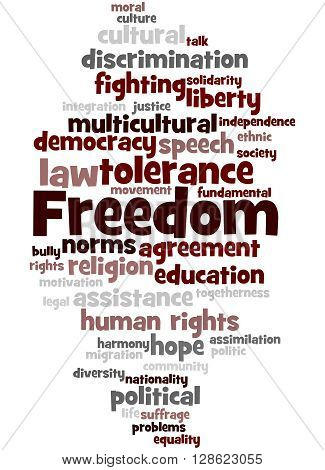 Freedom, Word Cloud Concept 8