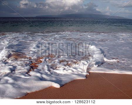 Big Beach, Maui on a beautiful, tropical morning.
