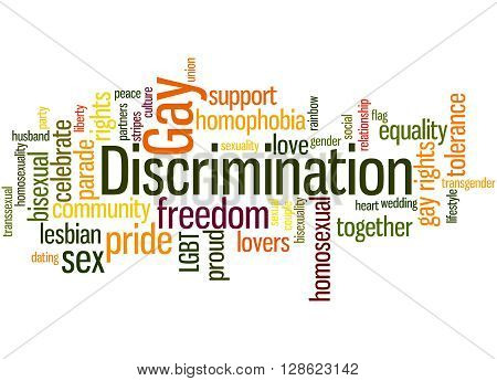 Gay Discrimination, Word Cloud Concept 3