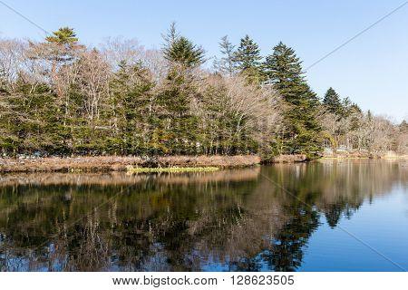 Water lake in karuizawa