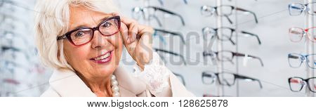 Woman With New Glasses