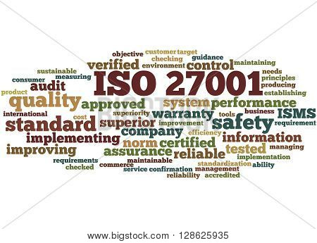Iso 27001 - Information Security Management, Word Cloud Concept 2