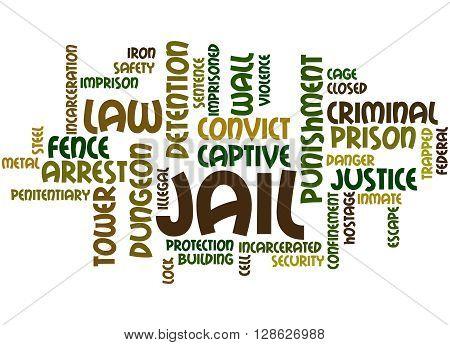 Jail, Word Cloud Concept 4