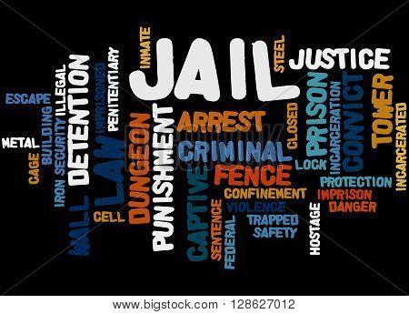 Jail, Word Cloud Concept 5