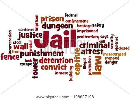 Jail, Word Cloud Concept 9