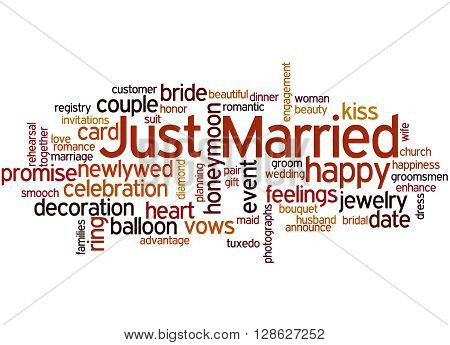 Just Married, Word Cloud Concept 3