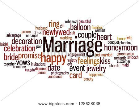 Marriage, Word Cloud Concept 2