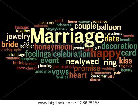 Marriage, Word Cloud Concept 9