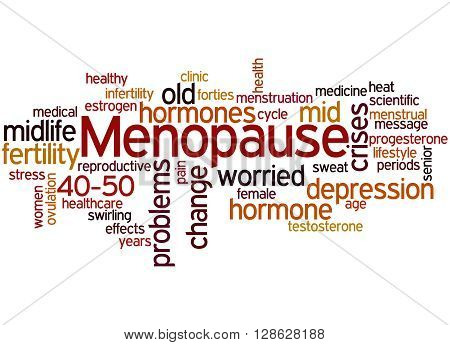 Menopause, Word Cloud Concept 2