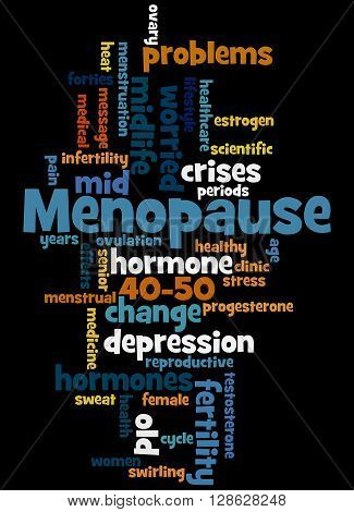 Menopause, Word Cloud Concept 7