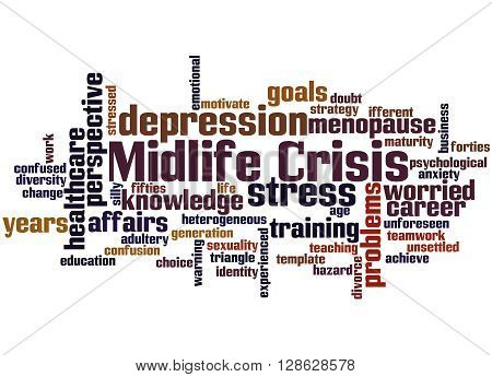 Midlife Crisis, Word Cloud Concept 4