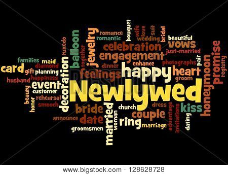 Newlywed, Word Cloud Concept