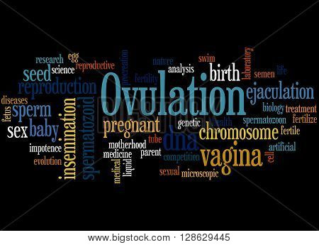Ovulation, Word Cloud Concept 6