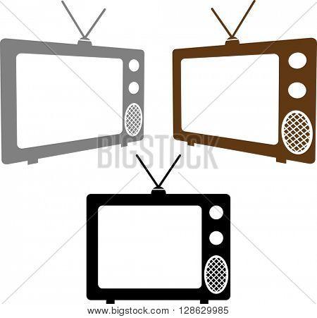 TV Icon Set raster Illustration