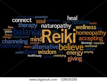 Reiki, Word Cloud Concept 5