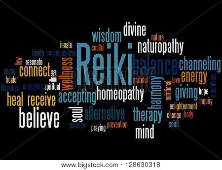 Reiki, Word Cloud Concept 6