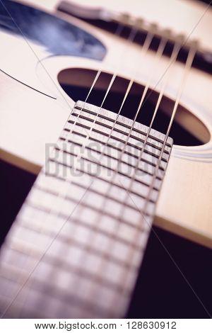 Closeup Shot Of Acoustic Guitar