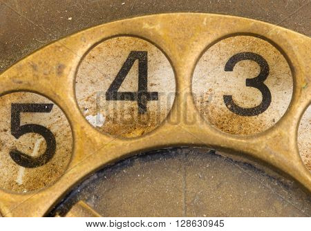 Close Up Of Vintage Phone Dial - 4